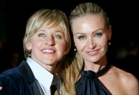 Ellen Degeneres and wife/partner Portia De Rossi