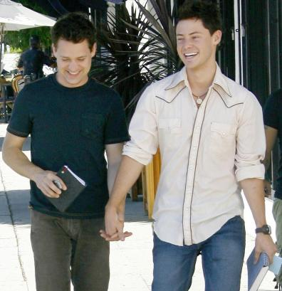 TR Knight with boyfriend Mark Cornelsen